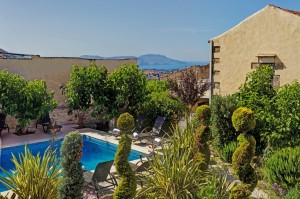 Garden & pool view